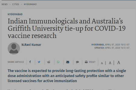 The vaccine is expected to provide long-lasting protection with a single dose administration with an anticipated safety profile similar to other licensed vaccines for active immunization